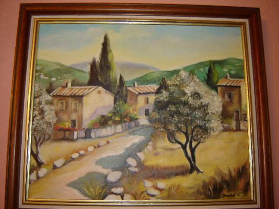 paysage de provence 8 F 38 x 46 cm (à vendre)