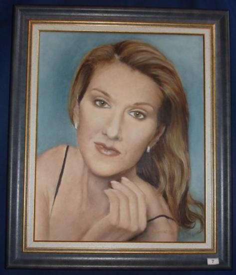 Céline Dion huile sur toile 6 F 33 x 41 cm (à vendre)