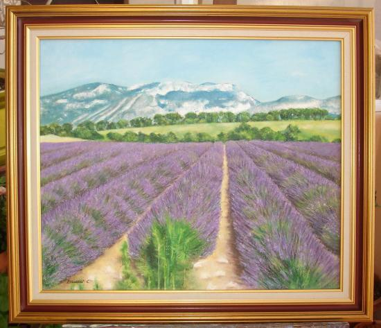 lavande huile sur toile 10 F 46 x 65 cm (vendu)