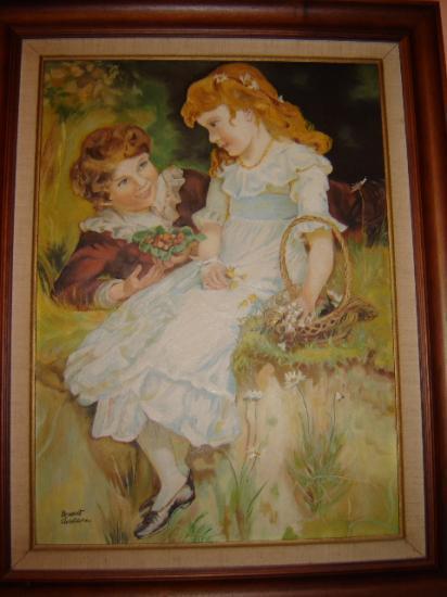 reproduction tableau huile sur bois 42 x 58 cm