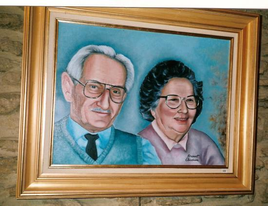 couple   huile sur toile  8 F 38 x 46 cm