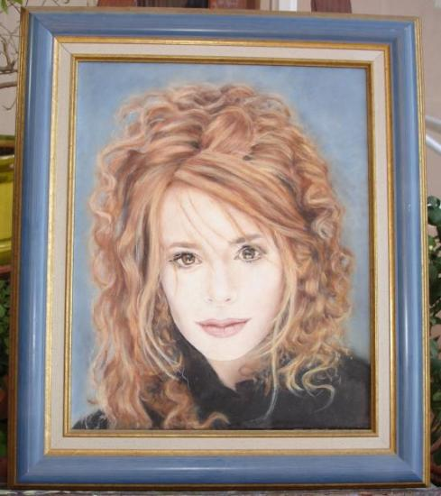 Mylène Farmer huile sur toile 6 F 41 x 33 cm (réservé)