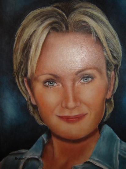 Patricia Kaas huile sur toile 6 F 41 x 33 cm (à vendre)