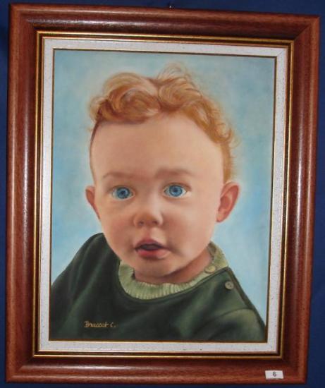 """""""le Petit Roi"""" huile sur toile 5 F 25 x 37 cm"""