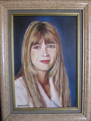 Hélène huile sur toile cartonnée 27 x 41 (à vendre)